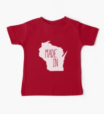 Made in Wisconsin - White Baby Tee