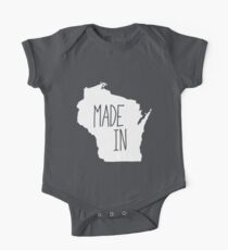 Made in Wisconsin - White One Piece - Short Sleeve