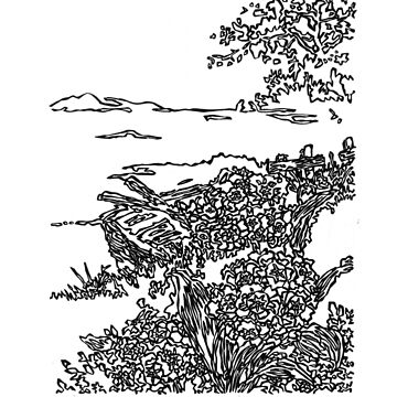 LINE : Vision, The Lake by LINEart