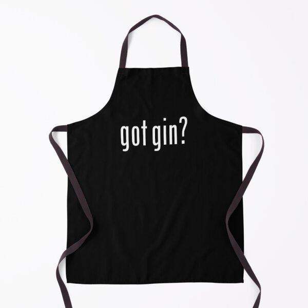 Got gin? White text Apron