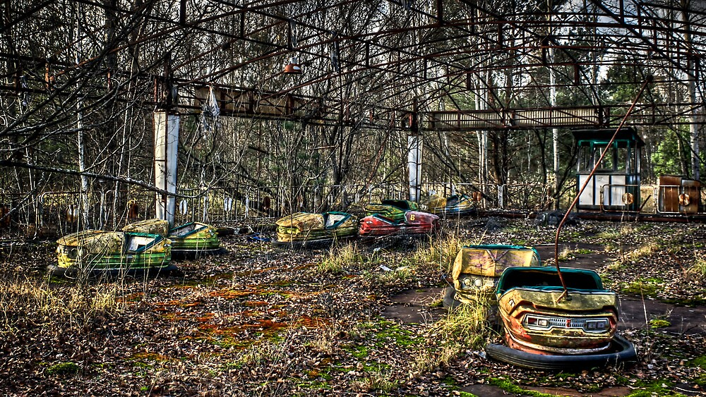 """Abandoned Bumper Cars Prypiat/Chernobyl"" by pixog 