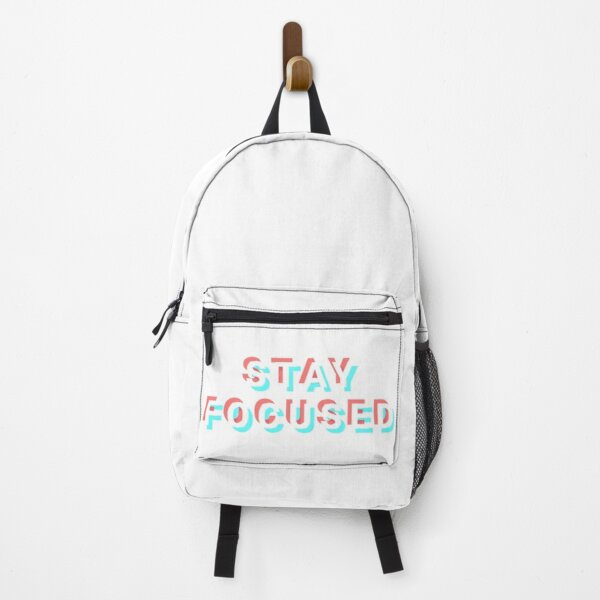 Stay focused white Backpack