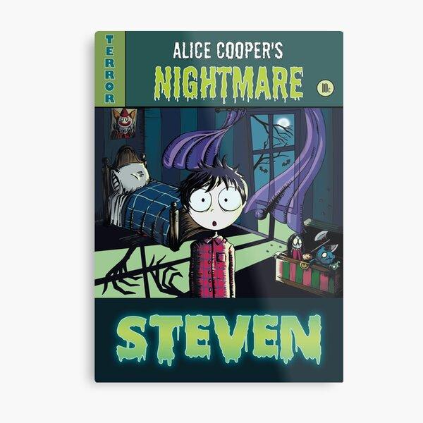 "Illustration ""contes de crypte"" - Steven"" - Alice Cooper Impression métallique"