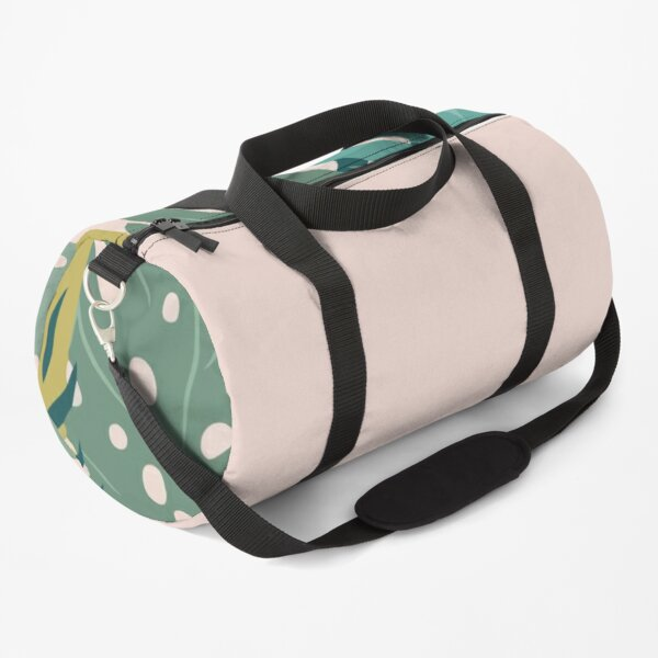 Background With Tropical Leaves Duffle Bag