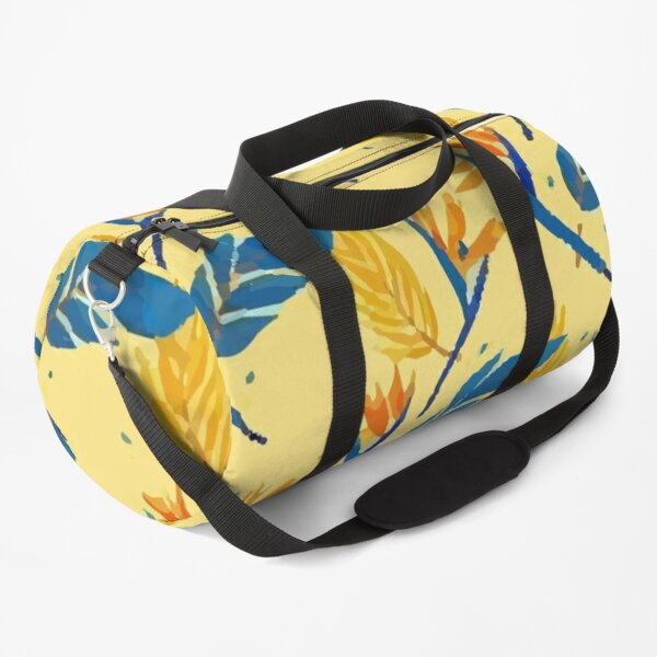 Colorful Floral Yellow Pattern Duffle Bag