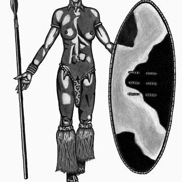 Zulu Warrior Woman by vincents81