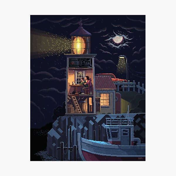 Scene #34: 'Lighthouse' Photographic Print