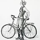 Girl on Bicycle by Michael Beckett