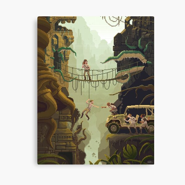 Scene #29: 'The Stolen Idol' Canvas Print