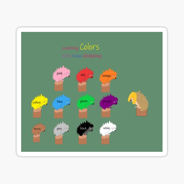 Learning Colors With Nana Hedgehog Wider Sticker
