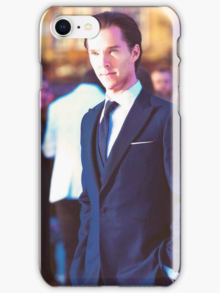 Benedict Cumberbatch iPhone Case by boundbybooks