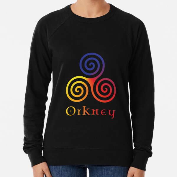 Colours of Orkney Isles | Scotland | Pictish Celtic Design | Rainbow Lightweight Sweatshirt