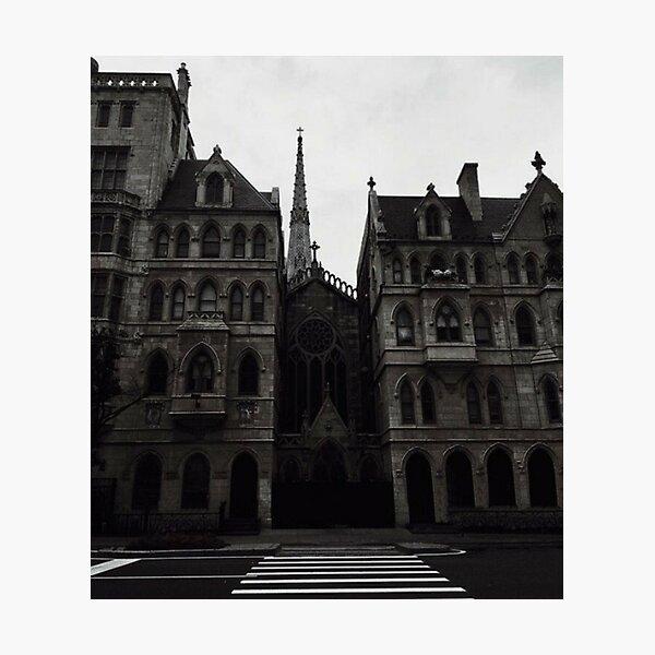 Dark academia church Photographic Print