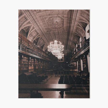 Dark academia library Art Board Print