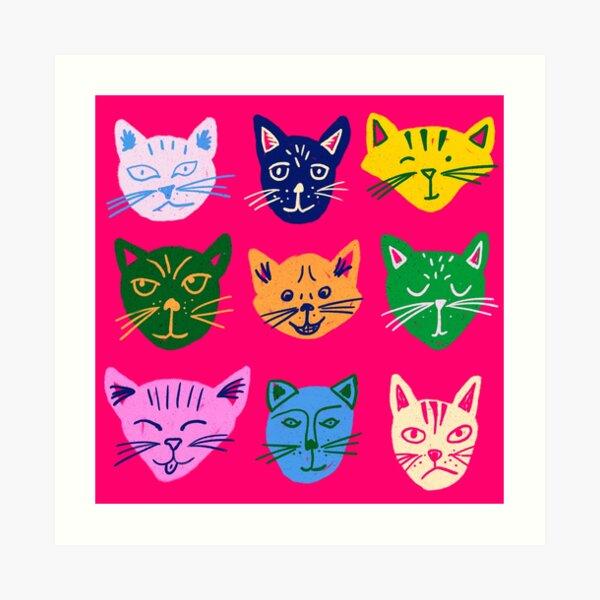 Caturday Vibes Art Print