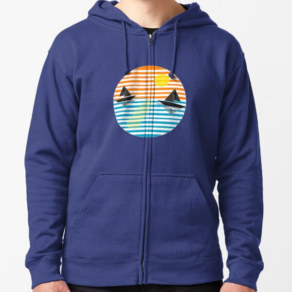 Great sea sunset classic t-shirt Zipped Hoodie