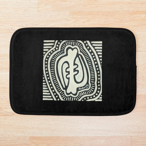 Gye Nyame Ebony and Ivory Bath Mat