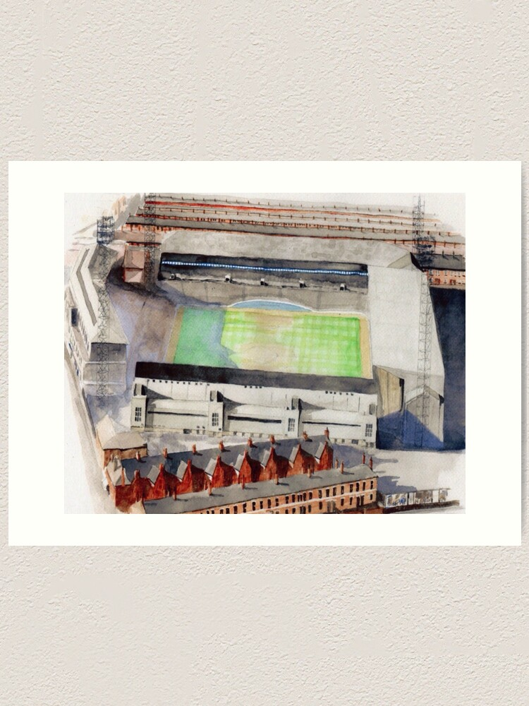 Everton Goodison Park Art Print By Sidfox Redbubble