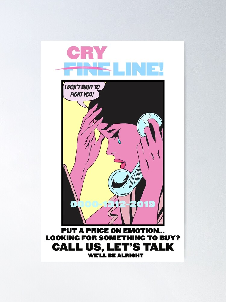 Alternate view of CRY LINE PRINT Poster