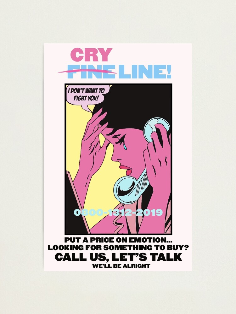 Alternate view of CRY LINE PRINT Photographic Print
