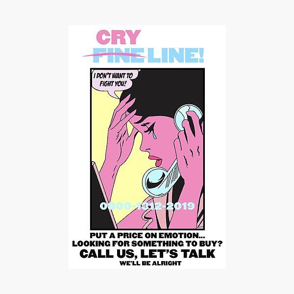 CRY LINE PRINT Photographic Print