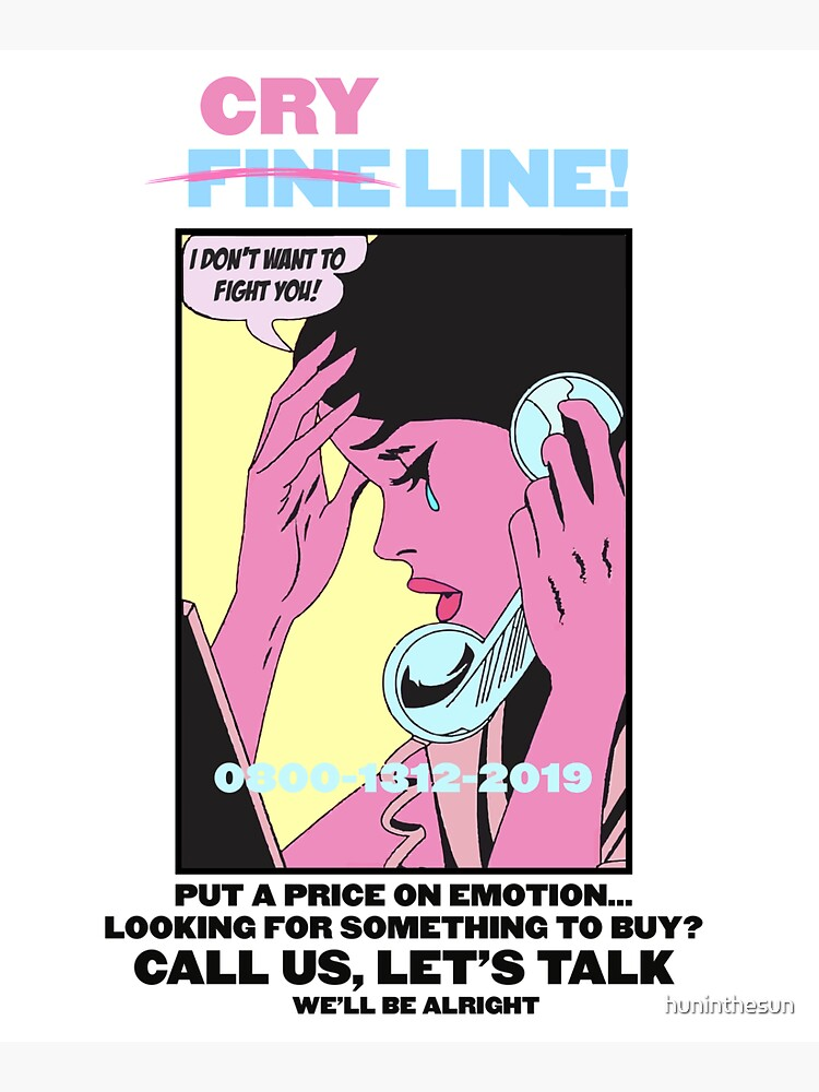 CRY LINE PRINT by huninthesun