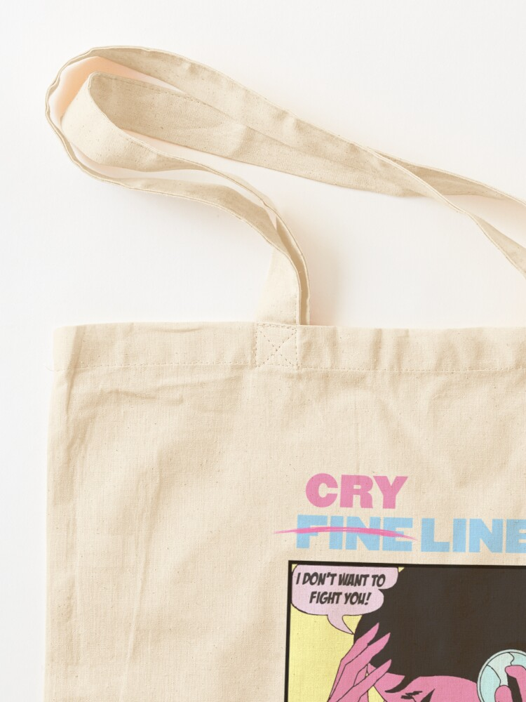 Alternate view of CRY LINE PRINT Tote Bag