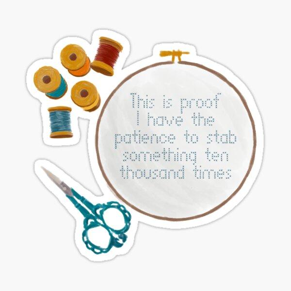 Cross stitching Sticker