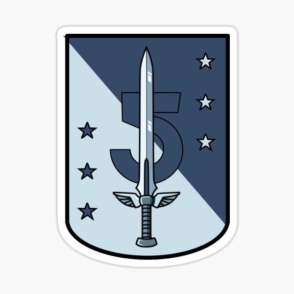 Babylon 5 Sword Design Sticker