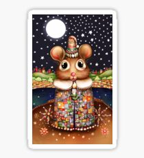 Little Bright Eyes the Radiant Christmas Mouse Sticker