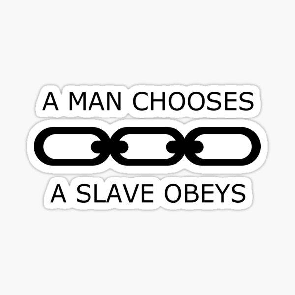 A Man Chooses Sticker