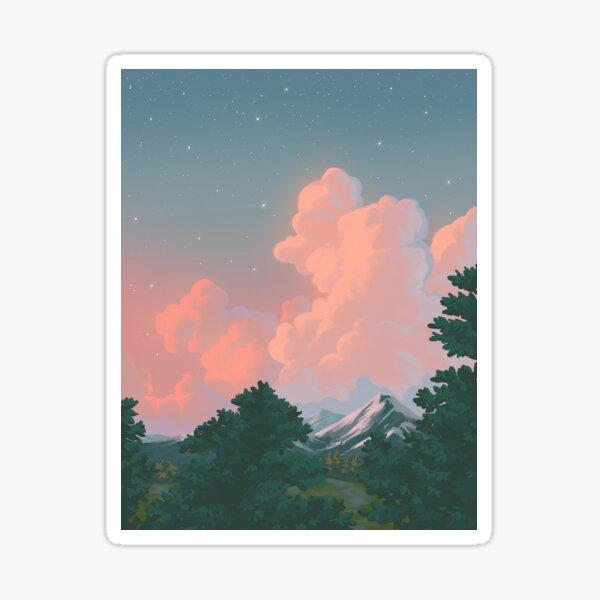 landscape study #1 Sticker