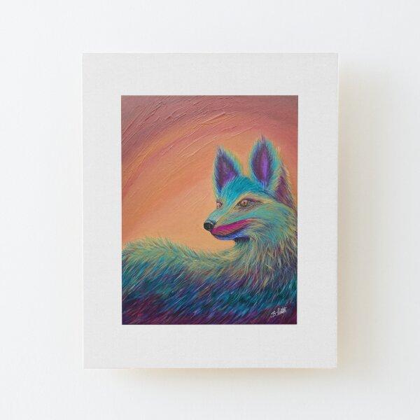 Foxy Wood Mounted Print