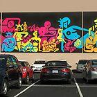 Parking Lot Art Triptych by Heather Friedman