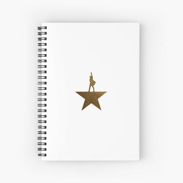 Golden Hamilton Star Cuaderno de espiral