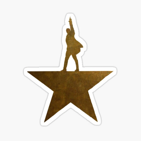 Golden Hamilton Star Sticker