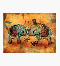 Vintage Elephants Photographic Print