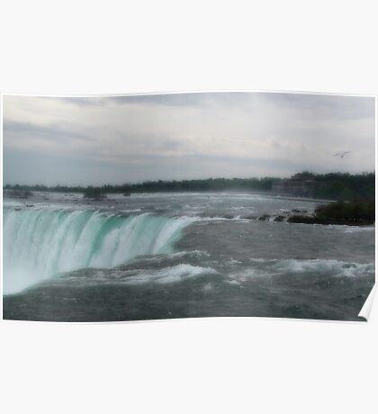 Early Morning At Niagara Falls Poster