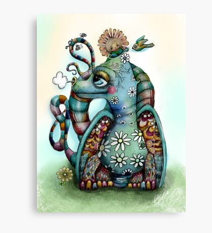 Misty the Friendly Rainbow Dragon Canvas Print