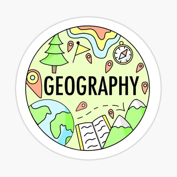Geographie (Pastellfarben) Sticker