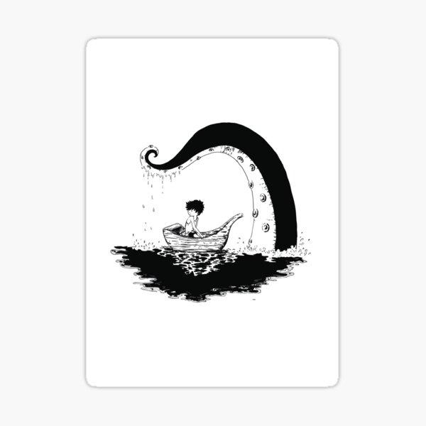 Illustration tentacule Sticker