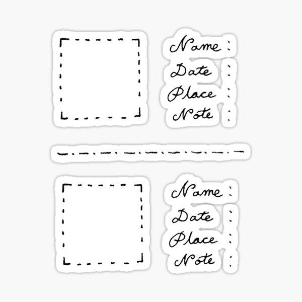 Sticker for Collecting Flat Small Specimen (eg. Lucky Clovers) Sticker