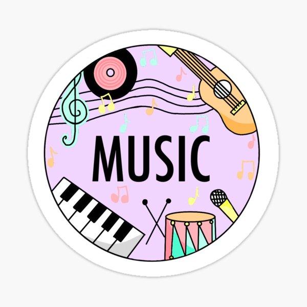 Musik (Pastellfarben) Sticker