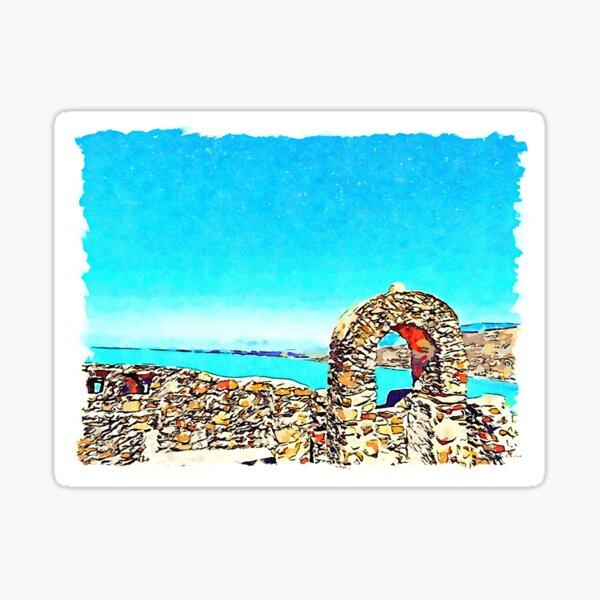 Castle walls and seascape Sticker