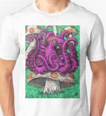 Octopus on Mushrooms Unisex T-Shirt