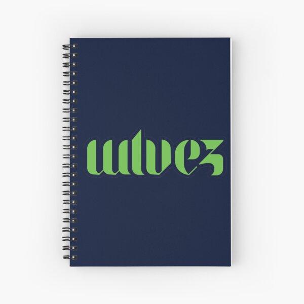 WLVEZ Creative Logo Spiral Notebook