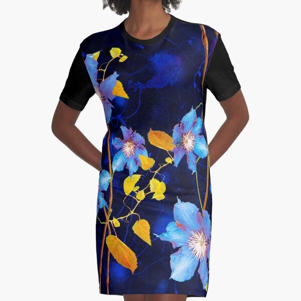 Clematiten / Clematis T-Shirt Kleid