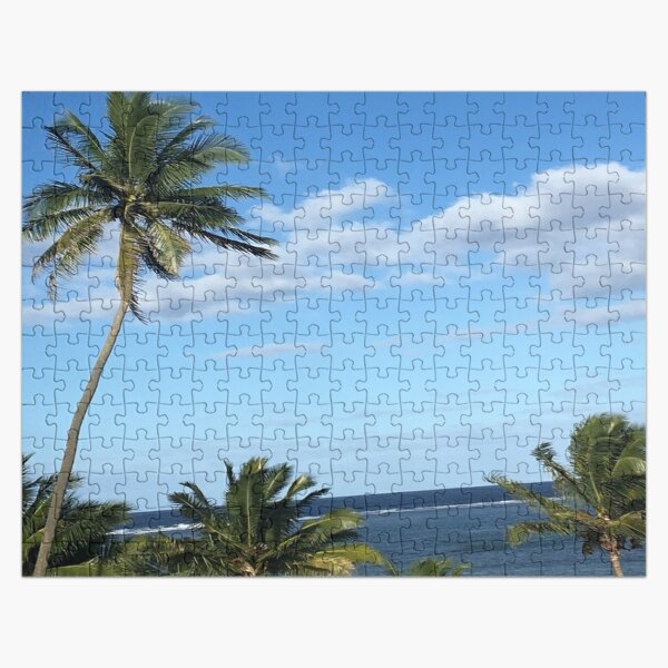 Palm Trees by the Water in Fiji Jigsaw Puzzle