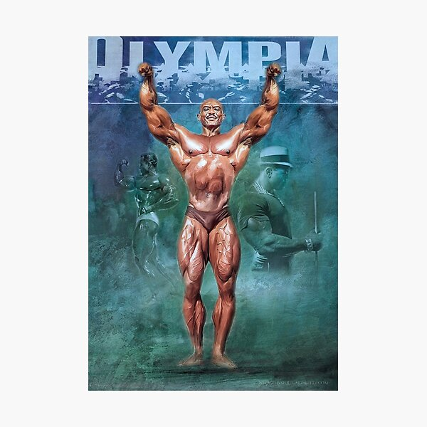 Sergio Oliva Mr Olympia The Myth Bodybuilding Art Photographic Print
