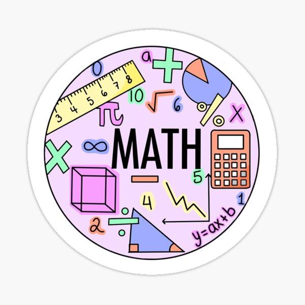 Mathe (Pastellfarben) Sticker